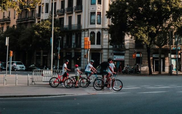 ciudad usar bicicleta Barcelona