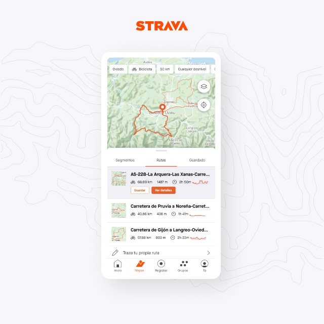Planificar ruta Strava mapa
