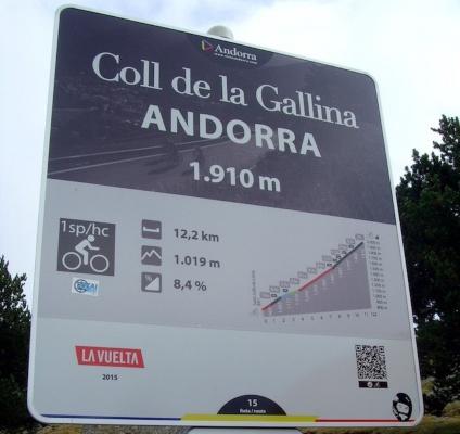 La Gallina Andorra puerto mítico Pirineo