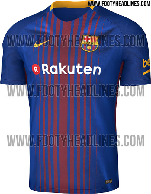How Barcelona S New Kit For The 2017 18 Season Will Look