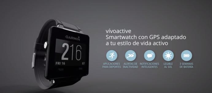 nuevo smartwatch garmin vivoactive