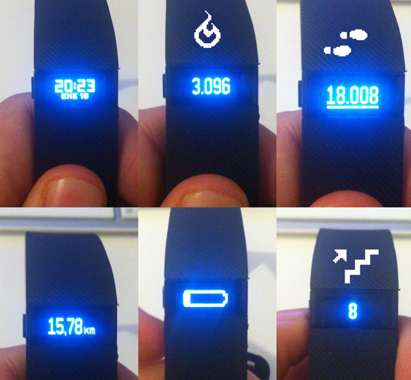 Pantallas fitbit charge