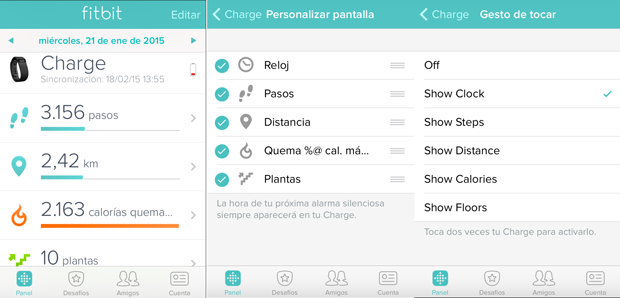 app movil fitbit charge