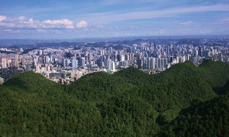 Guiyang es la capital de la provincia de Guizhou (República Popular China.)