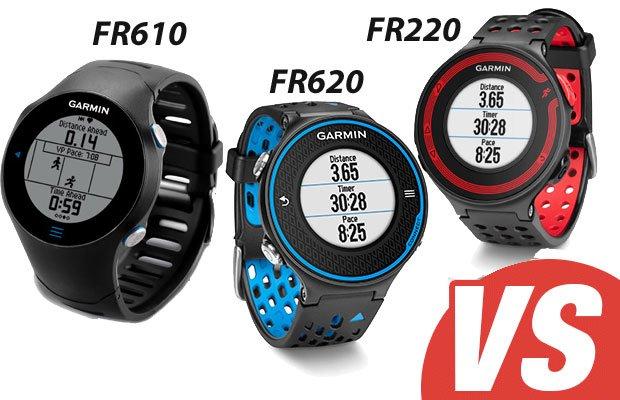 Comparativa Forerunner 620 VS Forerunner 610 versus Forerunner 220