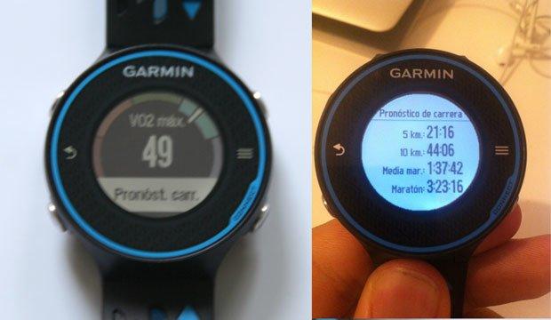 VO2 max Garmin forerunner 620