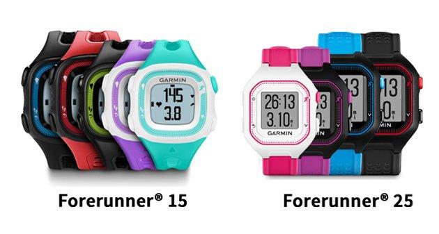 Garmin-forerunner 25 versus forerunner15