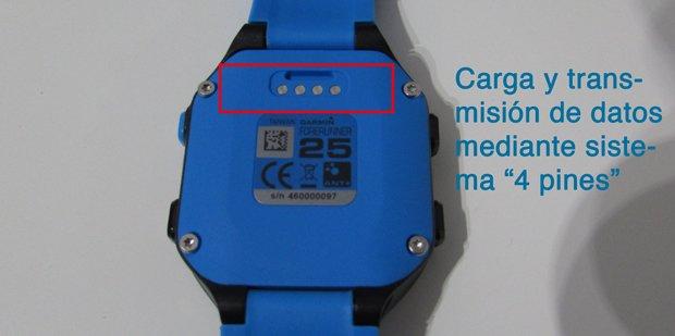 garmin-forerunner-FR25-carga-4pinees