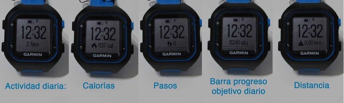 garmin-forerunner-FR25-pantallas-actividad-diaria