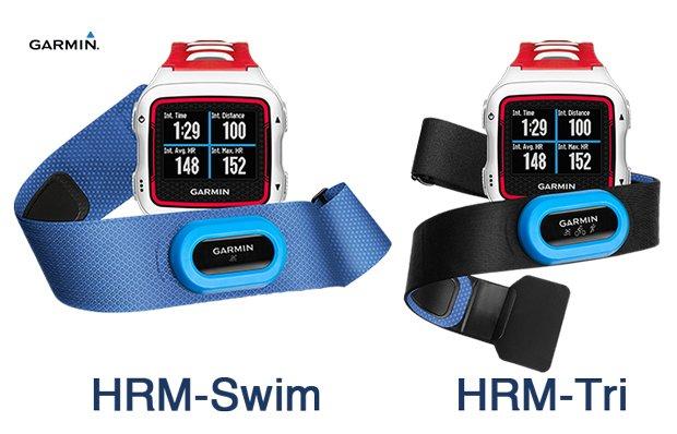 Garmin HRM-swim y HRM-tri pulsometros para natación