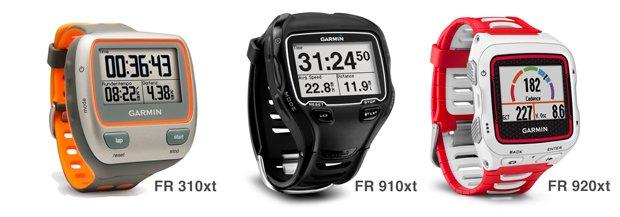 Gama Garmin forerunner para triatlon 310xt 910xt y 920xt