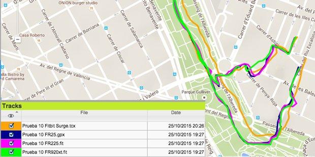 Prueba sensor GPS fitbit surge