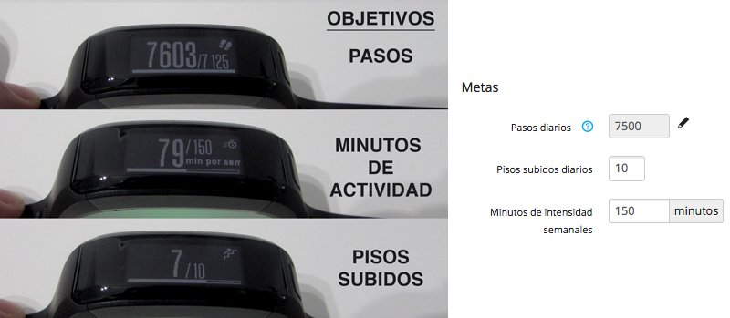 objetivos-pasos-pisos-minutos-garmin-vivosmart-HR