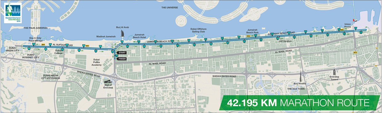 Circuito maratón de Dubai