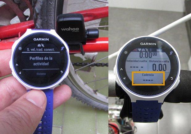 Forerunner 230 conexión con sensor de velocidad y cadencia wahoo