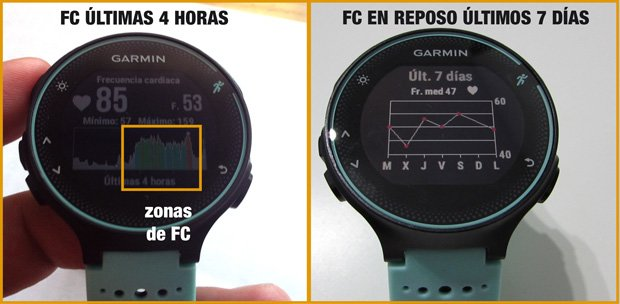 widget frecuencia cardíaca Forerunner 235