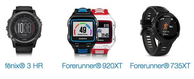 comparativa Forerunner 920xt, Forerunner 735xt y Fenix 3 HR