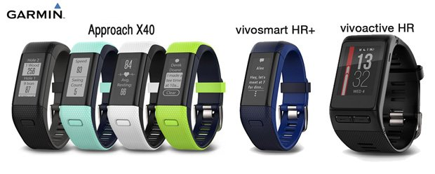 garmin approach x40 golf vivosmart