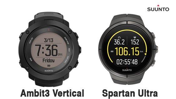 Suunto spartan ultra pantalla comparativa ambit3 vertical