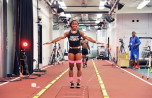 Shelly-Ann Fraser-Pryce at Nike's NSRL (Nike Sports Research Lab).