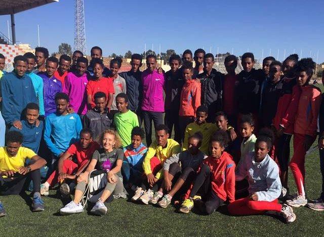 En el estadio de Asmara, capital y la ciudad más importante de Eritrea.