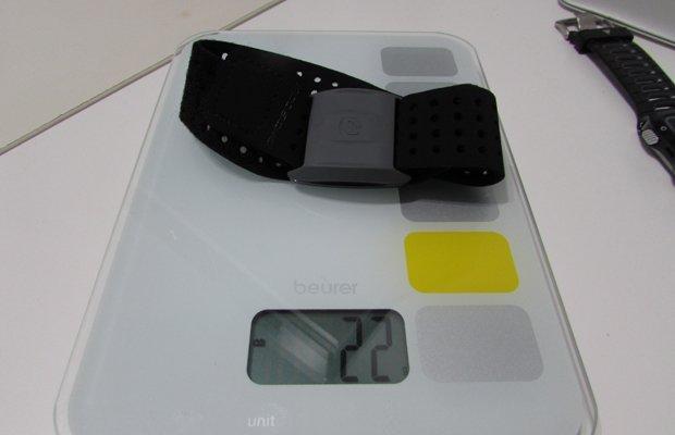 Peso Scosche Rhythm plus sensor óptico de frecuencia cardíaca