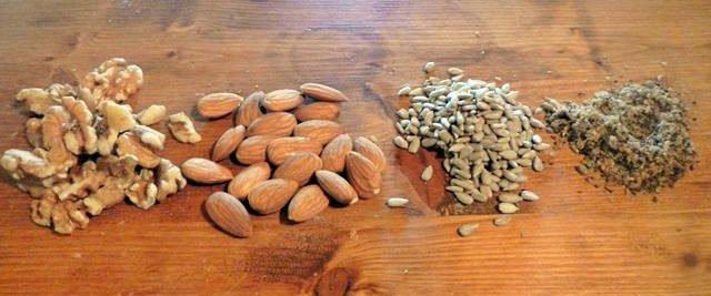 Frutos secos para elaborar pan
