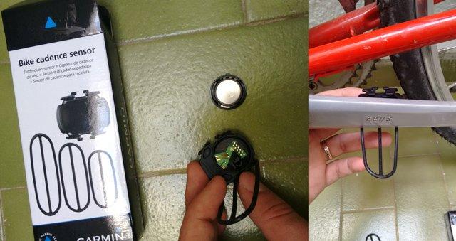Sensor de cadencia garmin sin imanes. Colocación en biela.