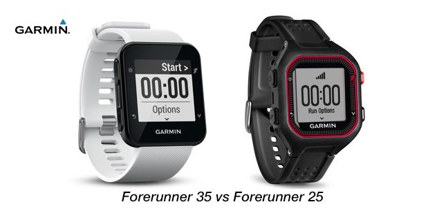 Garmin Forerunner 35 versus garmin forerunner 25