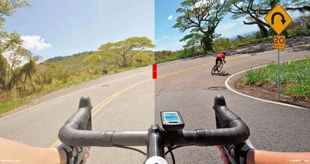 Visión sin lentes vs. visión con Prizm