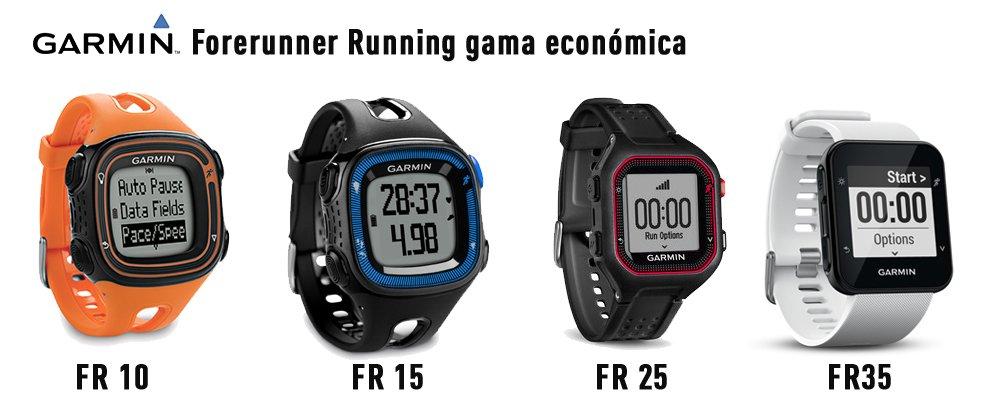 modelos Relojes GPS Garmin forerunner running gama económica