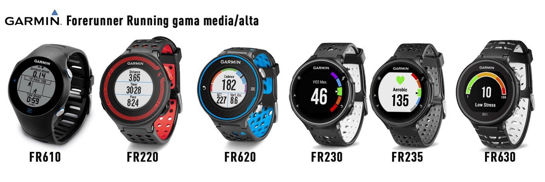 modelos Relojes GPS Garmin forerunner running gama media alta