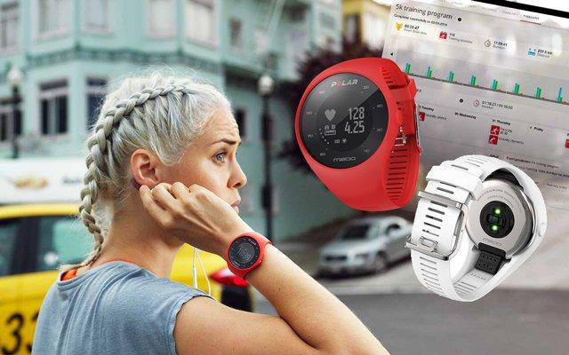 nuevo Polar M200 reloj gps con pulsómetro en la muñeca