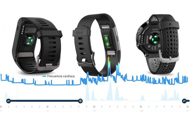 pulsómetros sin cinta pectoral sensor óptico de pulso