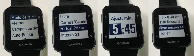 virtual pacer en Garmin Forerunner 35