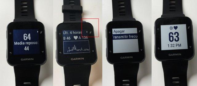 Registro de pulso 24 horas Garmin Forerunner 35