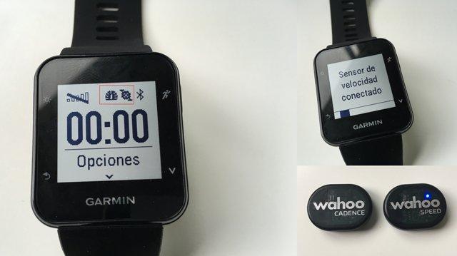 Conexión sensores de cadencia y velocidad Garmin Forerunner 35