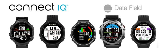 Data field (campos de datos) personalizables de Connect IQ para relojes-gps Garmin