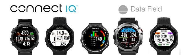 Data field (campos de datos) personalizables de Connect IQ para relojes-gps Garmin