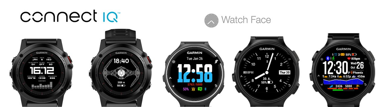 Watch faces (esferas de reloj) de Connect IQ para dispositivos Garmin