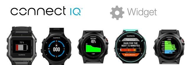 widgest de Connect IQ para relojes gps de Garmin