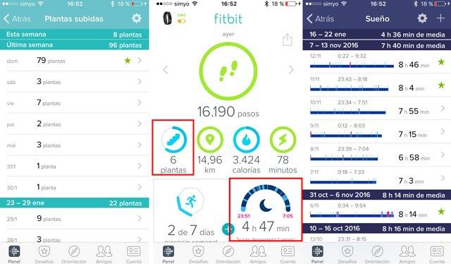 Control de las plantas subidas y sueño dentro de la aplicación móvil.