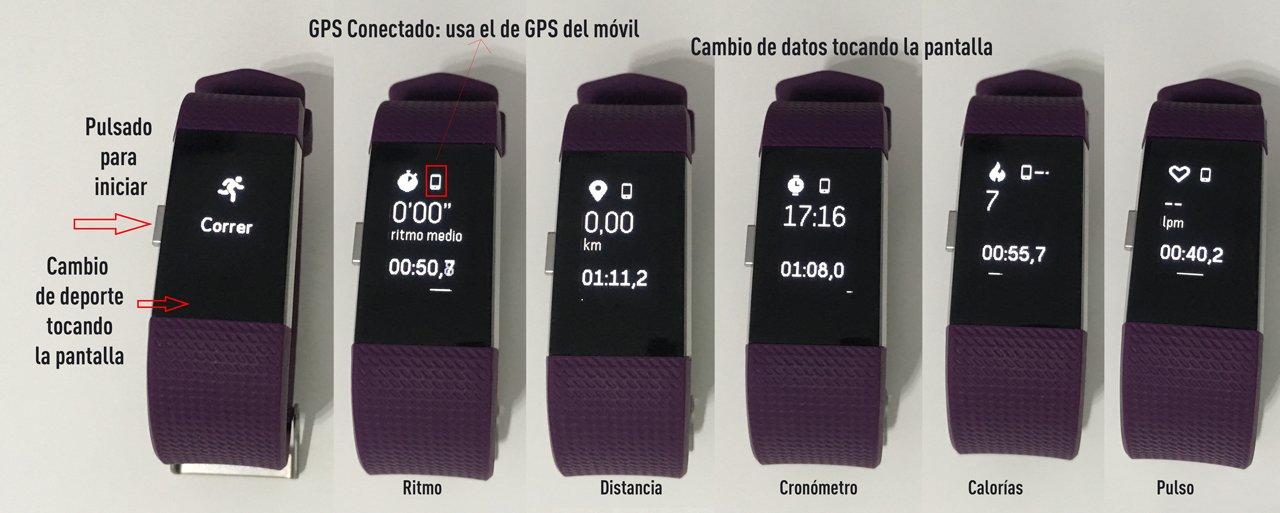 Fitbit Charge 2: Función GPS conectado