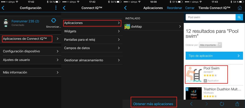 instalación aplicaciones connect IQ en Forerunner