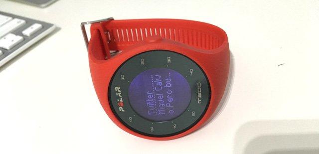 Notificaciones móviles en el Polar M200
