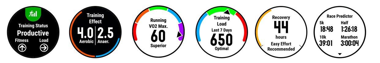 Training status y estadísticas de forma física del Garmin Forerunner 935