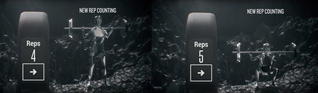 vivosmart 3 con contador automático de repeticiones en entrenamiento de fuerza