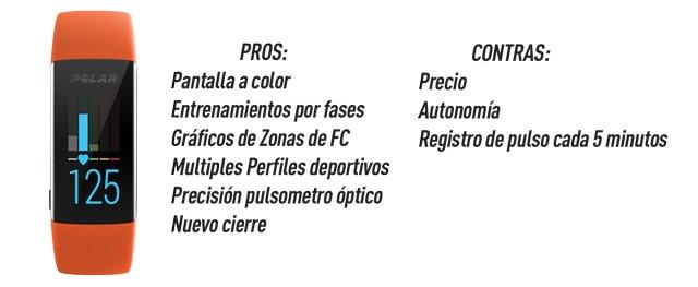 Polar A370: Pros y Contras.
