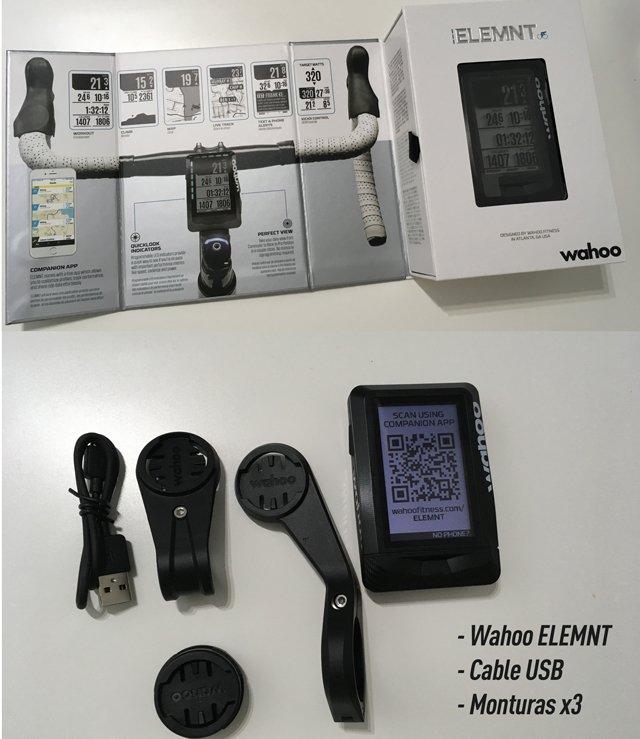GPS-ciclismo-Wahoo-elemnt-contenido-caja