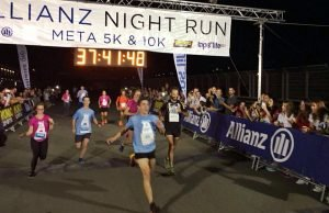 Marc marquez en la Allianz Night Run de Valencia